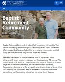 Baptist+Retirement+Community Website