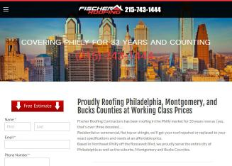 Fischer+Roofing+Contractors Website