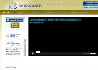 University+at+Buffalo+Neurosurgery Website