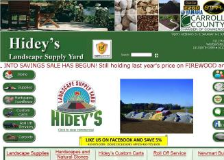 Hidey%27s+Landscape+Supply+Yard Website