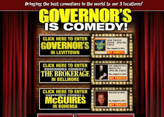 Governors+Comedy+Cabaret Website