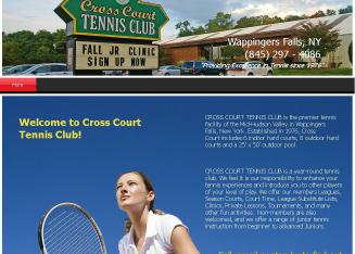 Cross+Court+Tennis+Club Website