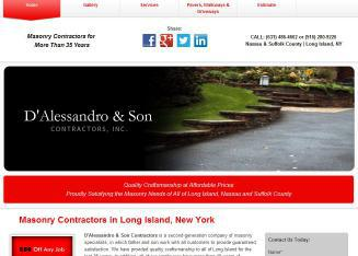 D%27Alessandro+%26+Son+Contractors+Inc Website
