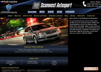 Scanwest+Autosport Website
