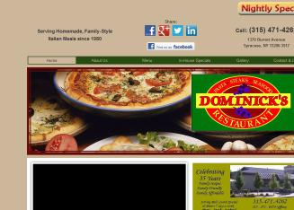 Dominick%27s+Restaurant Website