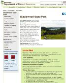 Maplewood+State+Park Website