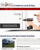 Cranberry Lock & Key