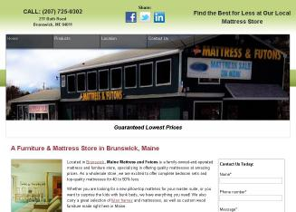 Maine+Mattress+%26+Futons Website