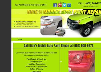 Nick%27s+Mobile+Auto+Paint+Repair Website