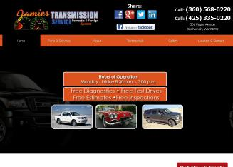 Jamie%27s+Transmission+Service+%26+Auto+Repair Website
