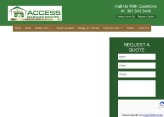 Access+Garage+Doors+Inc Website