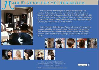 Hair by Jennifer Hetherington