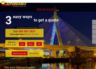 A-Affordable+Insurance+Agency Website