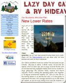Lazy+Day+Cabins Website