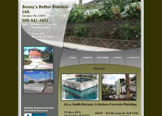Benny%27s+Better+Builders Website
