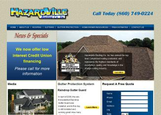 Hazardville+Roofing+CO+Inc. Website