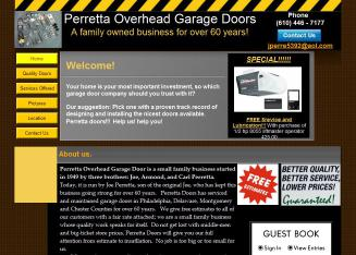 A+J+Peretta+Overhead+Doors Website