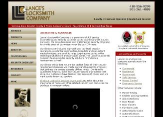 Lance%27s+Locksmith+Company Website