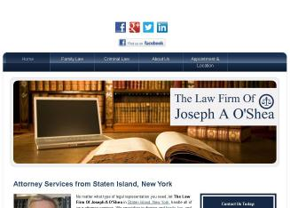 The+Law+Firm+Of+Joseph+A+O%27Shea Website