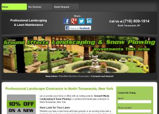 Ground+Effects+Landscaping+%26+Snowplowing Website
