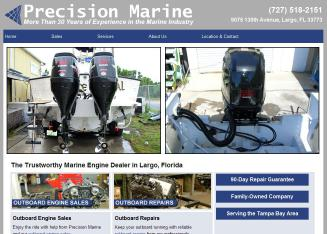 Precision+Marine Website
