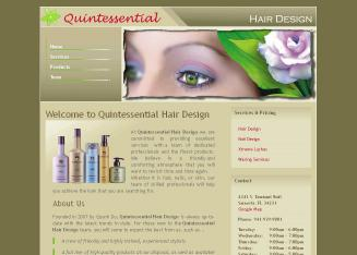 Quintessential+Hair+Design Website