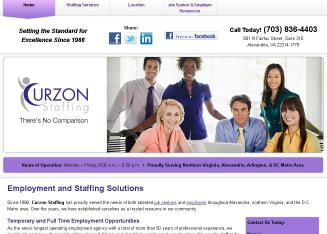 Curzon+Staffing Website