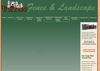 Fortress+Fence+%26+Landscaping Website