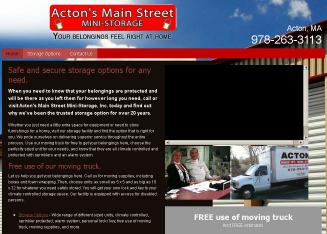 Acton%27s+Main+Street+Mini+Storage Website