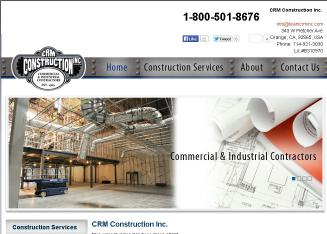 CRM+Construction Website