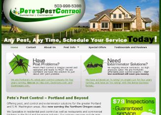 Pete%27s+Pest+Control Website