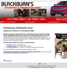 Blackburn%27s+Automotive+%26+Transmission+Repair Website