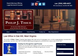 Tissue+Law+Offices Website