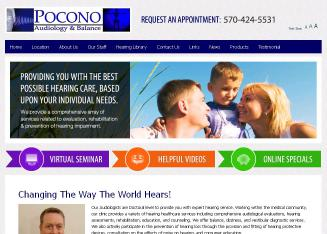 Pocono+Audiology+%26+Balance Website