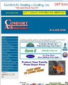 Comfort+Air+Heating+%26+Cooling Website
