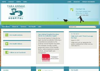 Tara+Animal+Hospital Website