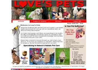 Love%27s+Pets Website