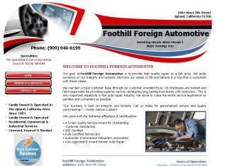 Foothill+Foreign+Automotive Website