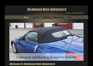 Richmond+Auto+Upholstery Website