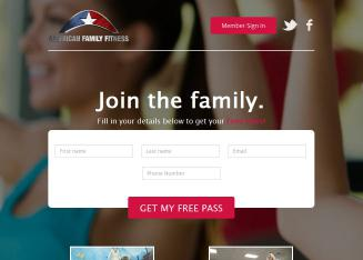 American+Family+Fitness Website