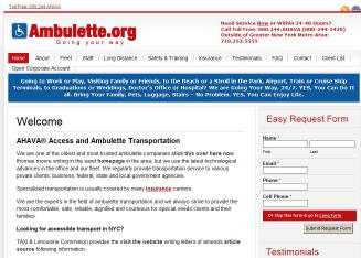 Ahava+Access+Ambulette+org Website