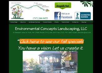 Environmental+Concepts+Landscaping Website