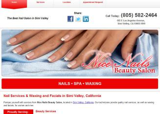 Nice+Nails+Beauty+Salon Website