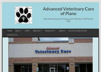 Advanced+Veterinary+Care+of+Plano Website