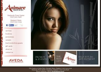 Animare+Salon+%26+Spa+AVEDA Website