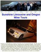 Sunshine+Limousine+and+Wine+Tours Website