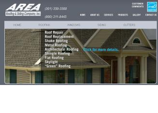 Area+Roofing+%26+Siding+Co Website