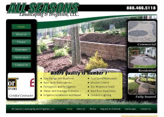 ALL+Seasons+Landscaping+%26+Irrigation Website