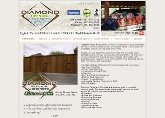 Diamond+Fence+%26+Concrete Website