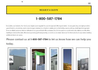 Lease Pac-Van Mobile Offices/Jobsite Trailers